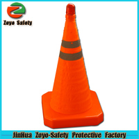 Zoyo-Safety Factory Wholesale Road Leader Adjustable Reflective PVC Or Cotton steel cone washer