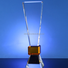 Thin K9 Triangle Shaped Crystal Award Trophy