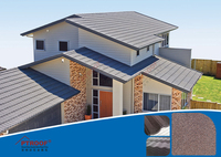Roof tile Stone Coated metal roofing tile- roman tile