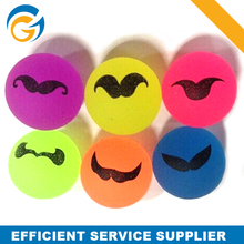 Moustache Style Colorful Glow in The Dark Bouncing Ball Vending Machine Bouncy Ball