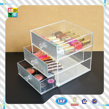 High quality acrylic box with drawers for nail polish,2015 modern design acrylic organizer with lid for jewelry / cosmetics