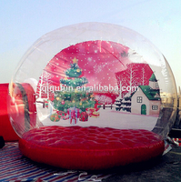Christmas Decorations Happy New Year Giant Inflatable Snow Globe / Festival Snow Ball / inflatable advertise show ball