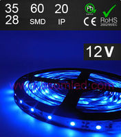 IP20 FL3528 no waterproof strip light bule color led strip 12VDC strip