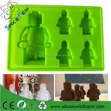 Wholesale bakeware 5 pc robot Silicone Ice Tray cube Mold Maker robot Ice Cream Mould chocolate for Legos bar party ice