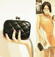 Stylish pu leather party clutch bag / coin purse for girls