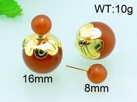 Kalen Wholesale Orange color plastic earring factory china earring bead