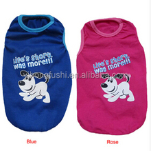 Durable Summer Fashion Pet Dog Printing Vest Leisure Wide Puppy T-shirt Doggy Cotton Shirts Dog Clothes