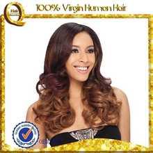 Cabelo virgem humano peruca linda fêmea