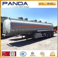 Panda 3 axle aluminum fuel tanker trailer for sale with first axle lifting