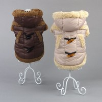 Wholesale Chihuahua pet dog winter warm coat with hat and bow tie+size available