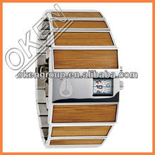 OKEN Vintage wood nature wrist watch in wholesale price