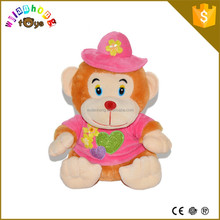 New Design Lovely And Cute Soft Toys Stuffed Animals Plush Monkey With Clothing For Child
