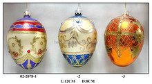 hand painted colourful glass eggs for Easter gifts