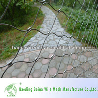 Hot sale low price China manufacture hand woven stainless steel wire rope zoo fencing mesh