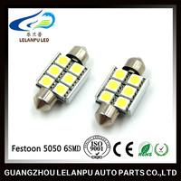 Hot sale Festoon 5050 6SMD Led Auto Lamp Reading Light High Quality 12V Led Car Light Super Bright Bulb