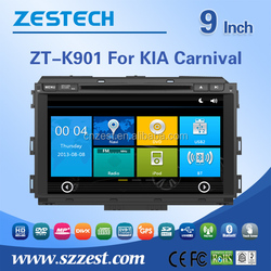 Zestech factory touch screen car stereo for Kia Carnival car stereo double din with camera radio BT A8chipset 3g