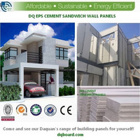 2015 Energy and labor-saving EPS Cement composite board for prefab villas