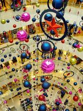 2015 colorful xmas ball atrium christmas decoration