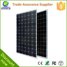 Monocrystalline silicon material 1950*995*45 mm 300w power solar panels
