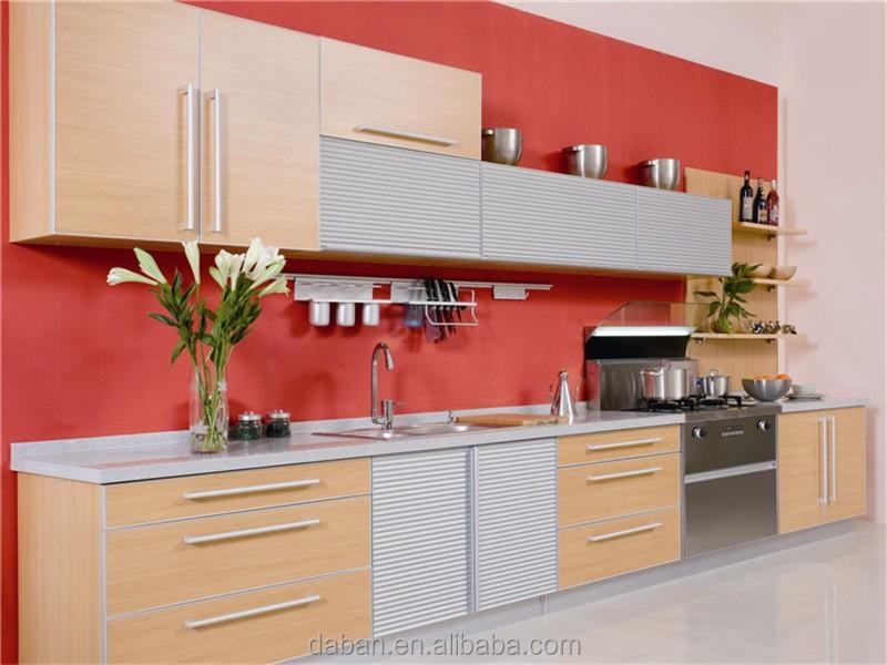 Acrylic finish plywood kitchen cabinet furniture kitchen for Acrylic kitchen cabinets prices