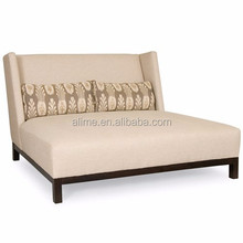 Alime custom modern fabric hotel lounge chaise for two sofa bed for commercial hotel bedroom and living room furniture ALC617.B