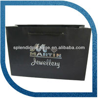 hot stamping shopping paper bag for jewelry