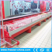 refrigerator meat display chiller glass lid chest freezer of Xuzhou Sanye