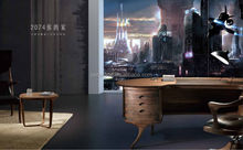 2015 Modern office furniture Wooden Writing Desk Rotary office Chair and table 6181 in foshan guangzhou