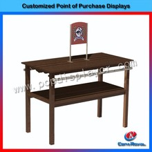 Customized garment shop floor standing wooden clothes display stand