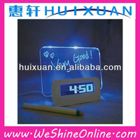 Nice design 4 port USB HUB , Clock with message board