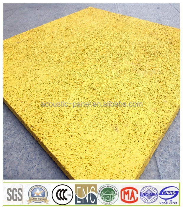 Fireproof Sound Absorbing Blanket : Fireproof wood wool acoustic ceiling sound absorbing material