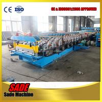 Manufacturer steel structure metal deck roll forming machine steel floor decking cold roll former machinery