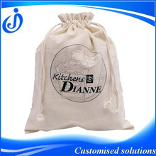 Wholesale Custom Made Cotton Drawstring Shoes Bag
