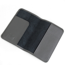 travel ticket wallet RFID blocking function Embossed clients logo rfid blocking passport cover leather
