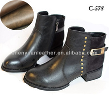 C-578 botas de material de cuero sintético