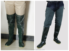 2015 new design men and women knee high boots printing boots soft bottom shoes in paddy field transplant rice