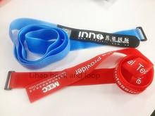 adjustable & reusable velcro belt buckle with logo printed