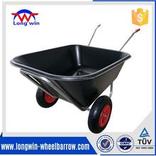 Wheelbarrow 10 cu ft, Garden Cart Wagon Yard Lawn double plastic Wheel barrow