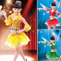 Children's Day stage performance clothing dance dress costumes girls sequined Latin skirts child party dress