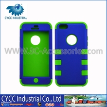 Mobile Phone Protector Case with Mix Green and Blue Color for iPhone