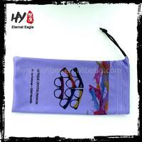 Superfine microfiber eyewear drawstring bag,case for glasses,soft microfiber sunglasses pouch