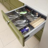 Stainless Steel Cutlery Organizer, Drawer Organizer, Utensil Storage Tray