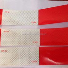Diamond Grade DOT-C2 red and white micro prismatic reflective tape for vehicle