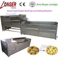 Brush Roller Carrot/Ginger/Kiwi Fruit/Peach Washing Machine|Industrial Peanut Cleaning Machine