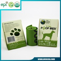 degradable PE plastic with EPI addition poop bag for dog in roll