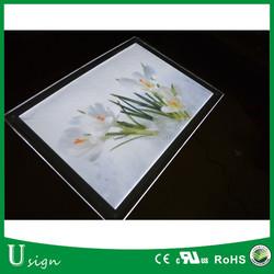 High brightness 12V LED A3 acrylic photo frame for advertising