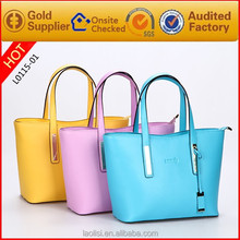 Lady hand bag fashion lady bag pu leather bag manufacturer