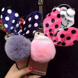 Newest 3D Cute Lovly Silicone Polka Dots Bow Hairtail Case Cover For iphone 6 6 plus Cute Phone Cases for phone6