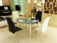 Extendable Glass Top Dining Table Wrought Iron Table Legs
