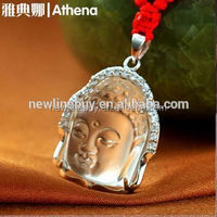 925 sterling silver jewelry wholesale buddha statue oem crystal pendant albanian eagle necklace